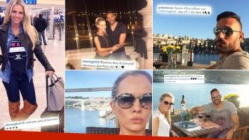 Alejandra Maglietti, Jonás Gutiérrez y su romántico reencuentro europeo. (Foto: Instagram)