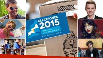 Las perlitas de los famosos en las elecciones 2015