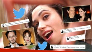 Los irónicos tweets de Érica García tras los escandalosos audios de Pampita y Vicuña (Foto: Twitter y Web)