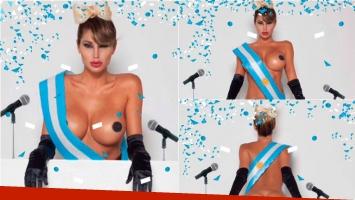 ¡Vicky Xipolitakis, presidenta! Sus sensuales fotos con look electoral. Foto: Twitter