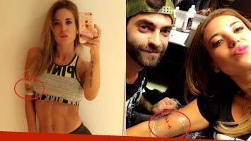 Jésica Cirio se hizo un nuevo tatuaje en francés