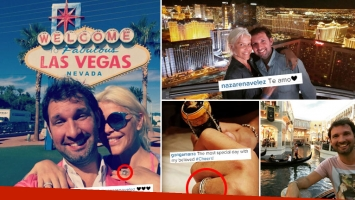 Nazarena Vélez y Gonzalo Gamarra, ¿ boda secreta en Las Vegas? (Foto: Instagram)