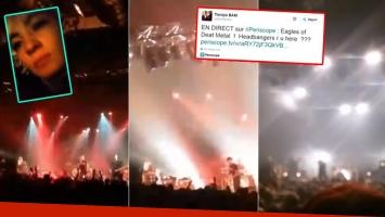 La usuaria @bamfactory transmitió en vivo parte del recital. (Capturas: Periscope de @bamfactory)