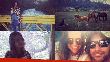 Zaira Nara, en la Patagonia argentina (Foto: Instagram)