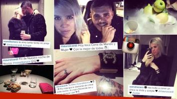 """Wanda Nara, Mauro Icardi y su """"noche de novios"""". (Foto: Instagram)"""