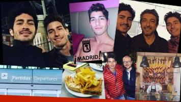 ¡Encuentro de galanes! Vico D'Alessandro y Chino Darín, juntos en Madrid. (Foto: Instagram)