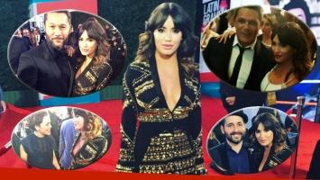 Lali Espósito en los Grammy Latinos con sus ídolos musicales (Foto: Instagram)