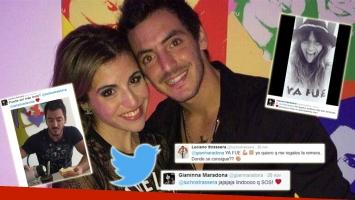 Los guiños 2.0 de Gianinna Maradona y Lucho Strassera (Foto: Web y Twitter)