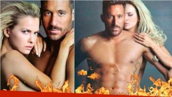 Alejandra Maglietti y Jonas Gutiérrez en una producción súper hot al desnudo. Foto: Gente