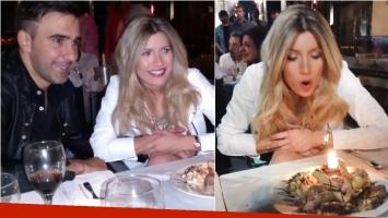 Laurita Fernández celebró su cumpleaños con una cena romántica con Hoppe. Foto: Twitter