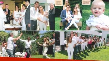 Guillermo Andino y Carolina Prat bautizaron a su hijo Ramón (Fotos: revista Caras)