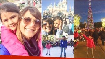 Las divertidas vacaciones de Amalia Granata y su hija en Disney (Fotos: Twitter)