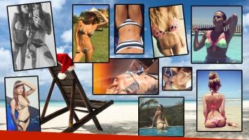 La Navidad en bikini de las diosas de la farándula. (Foto: Instagram)