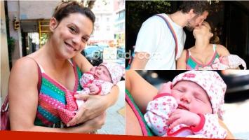 Manuela Pal presentó a Amparo, su primera hija. Foto: Movilpress