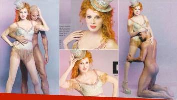 La sexy producción de Nacha Guevara y Flavio Mendoza (Fotos: revista Gente)