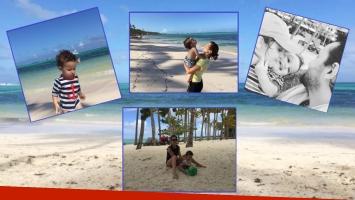 Las paradisíacas vacaciones de Germán Paoloski y Sabrina Garciarena con su hijo (Fotos: Instagram)