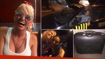 Vicky Xipotalikis se olvidó una valija en un taxi y clamó ayuda por Twitter. (Foto: Twitter)