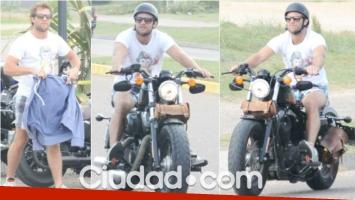 Tacho Riera paseó por Punta del Este, en su Harley Davidson (Fotos: MSnews)