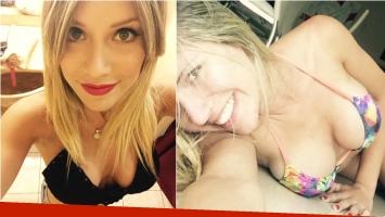 Laurita Fernández y una selfie hot en bikini que calentó Twitter. Foto: Twitter