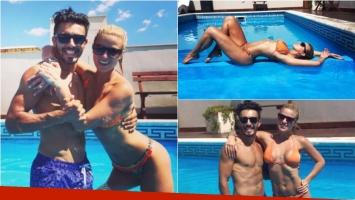 ¡Ailén Bechara, una diosa enamorada! Pileta con Fernando Bertona y cuerpazo. Foto: Instagram