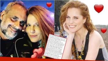 La carta de amor de Agustina Kämpfer a Jorge Rial en Instagram (Fotos: Instagram y Web)