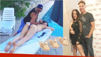 La foto hot de Miriam Lanzoni mientras se hace masajes en Carlos Paz (Fotos: Instagram)