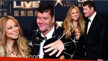 El increíble anillo de compromiso de Mariah Carey. (Foto: AFP)