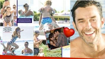 Las vacaciones de Mariano Martínez con sus hijos en Punta del Este (Fotos: revista ¡Hola! y Web)