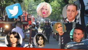 La reacción de los famosos y los periodistas de El Trece y TN por el voraz incendio en el canal. (Foto: Web)
