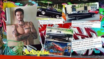 """El increíble auto """"pandillero"""" de Sebastián Ortega. (Foto: Instagram)"""