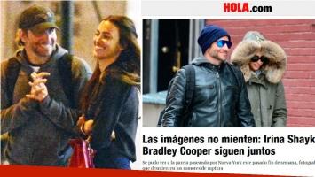 Irina Shayk y Bradley Cooper pasean juntos en Nueva York, tras los rumores de separación. Foto: Web/ Captura