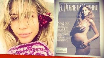 La tierna foto retro de Guille Valdés: desnuda y embarazada a los 23 años en la tapa de una revista. (Foto: Instagram)