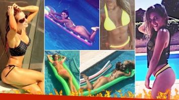 ¡Diosas en la pileta! Jésica Cirio versus Marian Farjat, combate cuerpo a cuerpo contra el calor del verano. (Foto: Instagram)