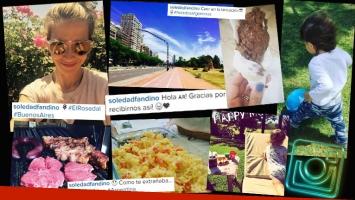 El regreso de Soledad Fandiño a la Argentina: un retorno a las exquisiteces criollas junto a su hijo. (Foto: Instagram)