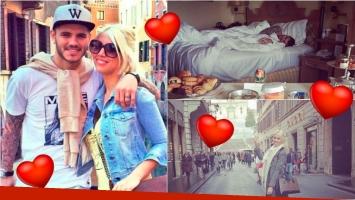 Wanda y su finde romántico en Roma con Icardi: