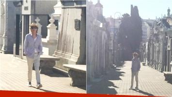 Mick Jagger visitó el cementerio de la Recoleta (Fotos: Instagram)