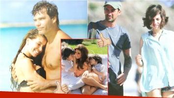 La buena relación de Florencia Peña con su exmarido y padre de sus hijos (Fotos: Web, revista Luz y revista Caras)