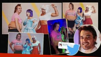 La divertida fiesta de disfraces Ángela, Franco y Stefano (Foto: Instagram)