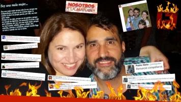 Fernanda Iglesias y su marido, las reacciones 2.0 tras sus desvinculaciones. (Foto: Web)
