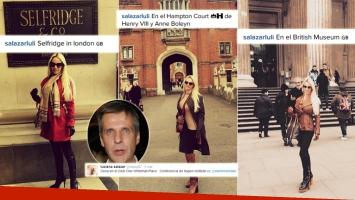 Los días de Luciana Salazar y Martín Redrado en Londres (Foto: Instagram)