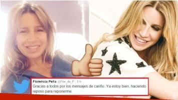 Florencia Peña fue operada de urgencia en Salta (Fotos: Twitter)