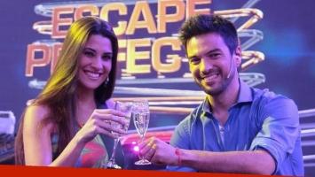 Ivana Nadal coconducía Escape perfecto junto al Chino Leunis. (Fotos: archivo Telefe)