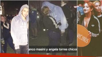Ángela Torres y Franco Masini, a los besos en el Lollapalooza (Fotos: Twitter, Snapchat e Instagram)