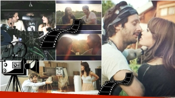 Las primeras imágenes de Lali Espósito y Benjamín Vicuña en Permitidos (Fotos: Twitter)