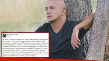 La emotiva carta de Bahiano tras la muerte de su papá (Foto: Web y Facebook)