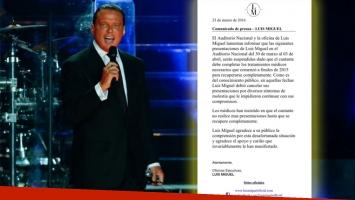 Luis Miguel canceló 4 shows en México por indicaciones médicas (Foto: Web y Twitter)