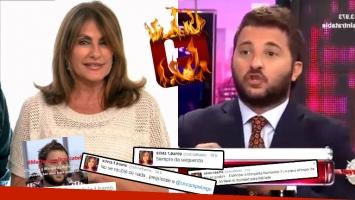 Furiosa catarata de tweets de Silvia Fernández Barrio contra Brancatelli. (Foto: Web)