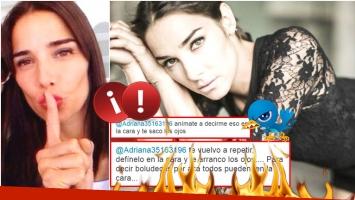 El fuerte enojo de Juana Viale con una seguidora en Twitter (Fotos: Web y Twitter)