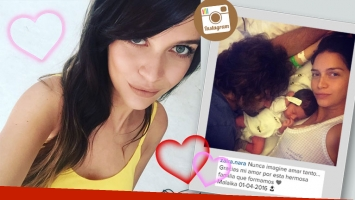 ¡La primera foto! Zaira Nara presentó a Malaika en las redes sociales. Foto: Instagram