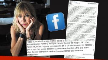 Conmovedora carta de Inés Estévez en el Día de la Concientización sobre el Autismo. Foto: Web